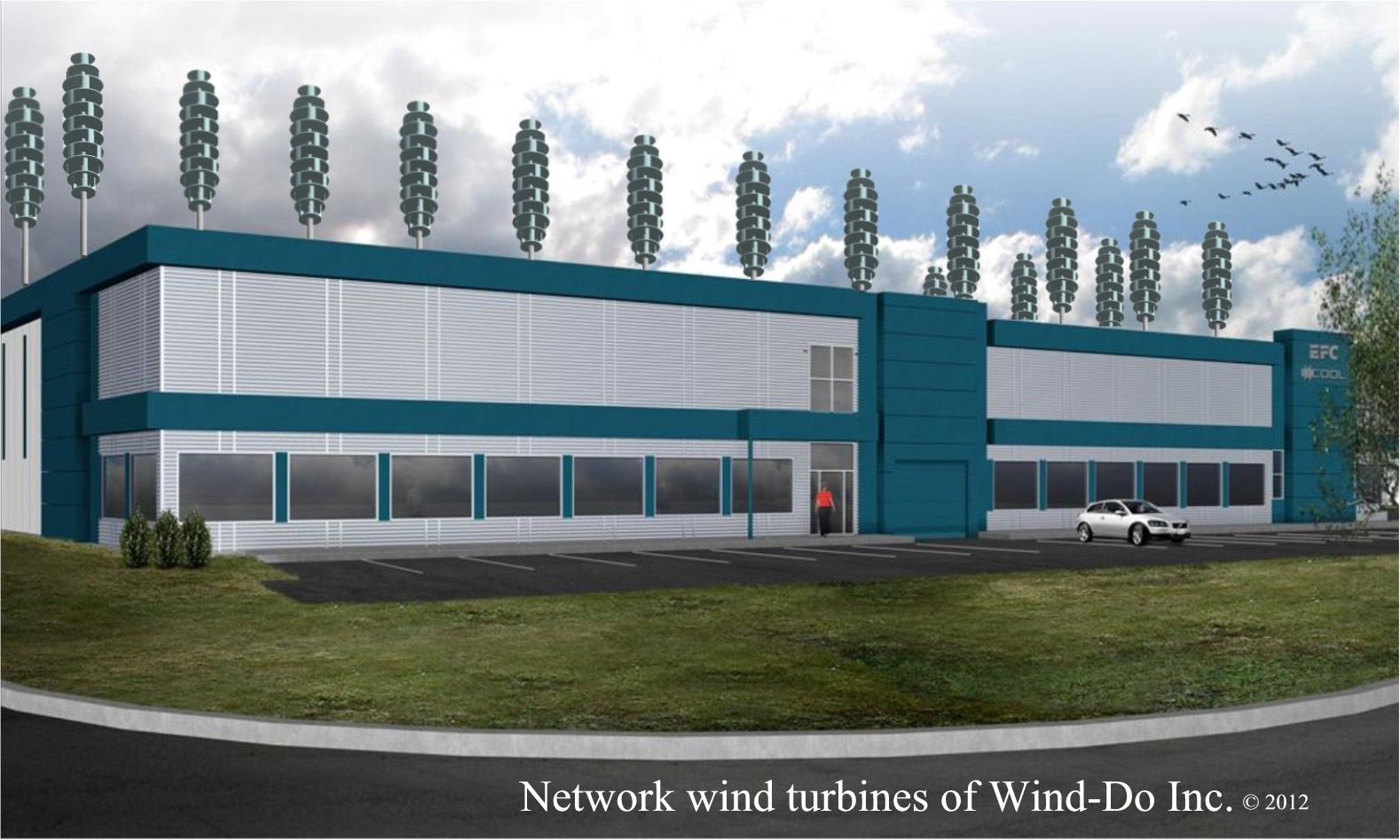 Network WT on industrial building